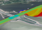 Модель рельефа дна на изометрическом виде Google Earth.