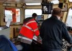 Маневрирование судна при выполнении работ у терминала